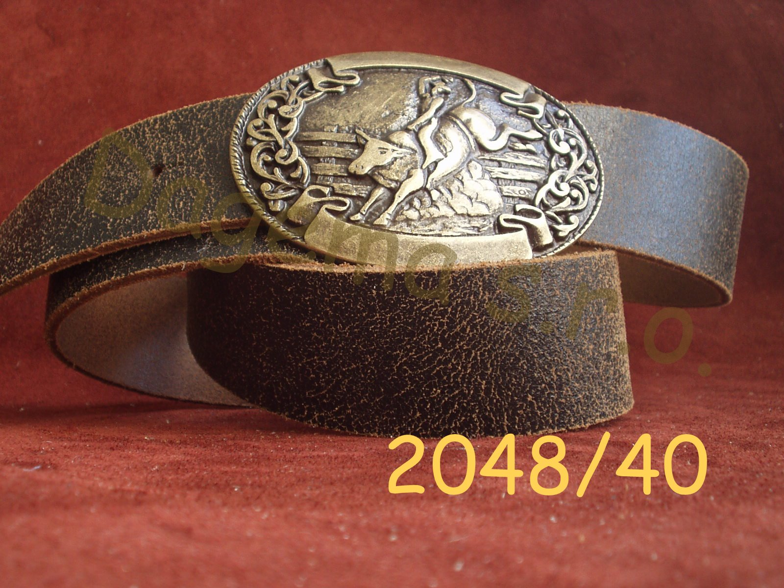 7168e4e28 Kožené opasky, opasky | Kožený westernový opasek se sponou ...